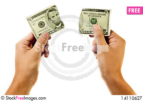Free Concept Of Being Broke Royalty Free Stock Photography - 14110627