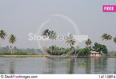 Free Backwaters Of Alapuzha Stock Images - 14110894