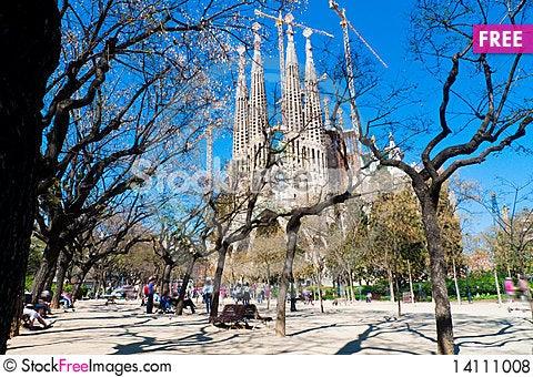Free Sagrada Familia Cathedral Royalty Free Stock Photos - 14111008
