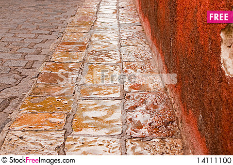 Free Stone Street In The Rain Stock Photo - 14111100