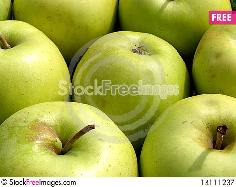Free Green Apples Background Royalty Free Stock Photography - 14111237