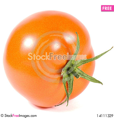 Free Red Tomato Is Isolated On A White Background Royalty Free Stock Images - 14111329