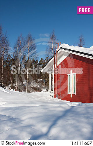 Free Cottages In Winter Royalty Free Stock Photography - 14111607
