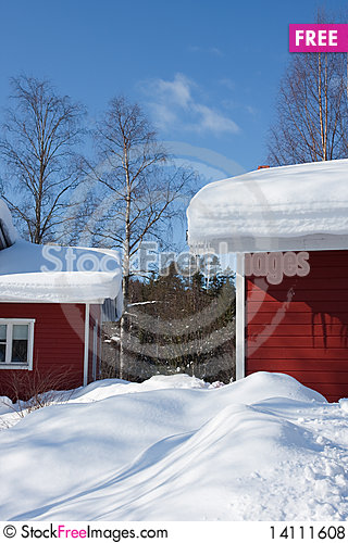 Free Cottages In Winter Royalty Free Stock Photos - 14111608