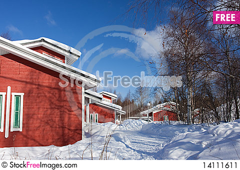 Free Cottages In Winter Stock Image - 14111611