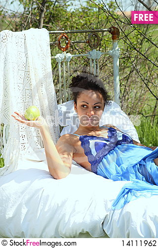 Free Girl With Apple Stock Photography - 14111962