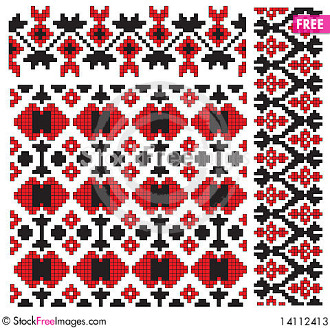Free Pattern Element Texture Embroidery Stock Photos - 14112413