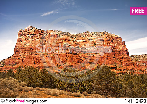 Free Courthouse Butte In Sedona Stock Photos - 14112493