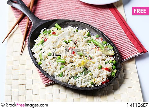 Free Fried Rice Royalty Free Stock Photography - 14112687