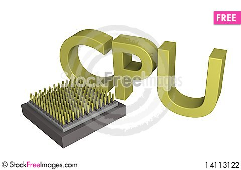 Free CPU Text Core 3d Stock Photography - 14113122