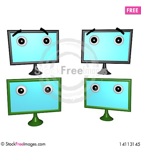 Free Flatscreens Plain 3d Royalty Free Stock Photo - 14113145
