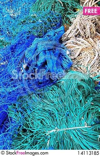 Free Fishing Equipment, Fish Net Royalty Free Stock Photo - 14113185