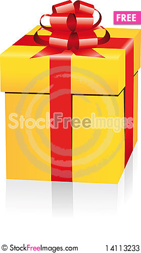Free Gold Gift Box Stock Photos - 14113233