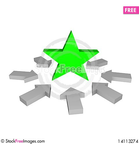 Free Arrows On Star 3d Stock Images - 14113274
