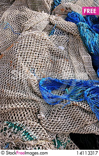 Free Blue Nets For Fishing Background Royalty Free Stock Photography - 14113317