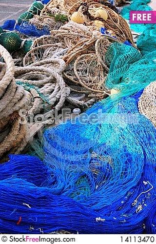 Free Fishing Equipment, Fish Net Stock Photo - 14113470