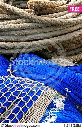 Free Fishing Equipment, Fish Net Royalty Free Stock Photo - 14113485