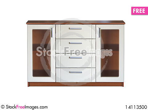 Free Combined Showcase Commode Stock Photo - 14113500
