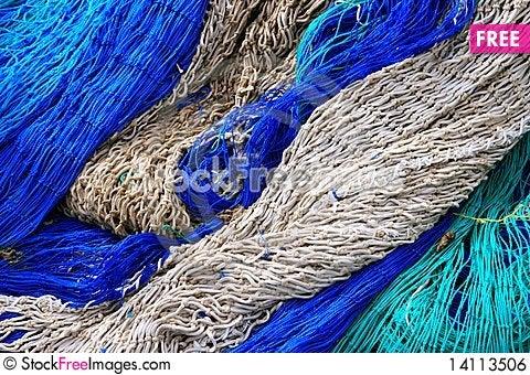 Free Fishing Equipment, Fish Net Background Royalty Free Stock Image - 14113506