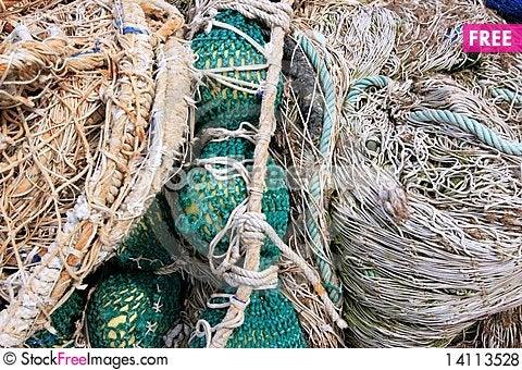 Free Fishing Equipment, Fish Net Royalty Free Stock Photos - 14113528
