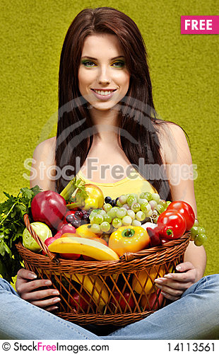 Free Fruits And Vegetables Stock Image - 14113561
