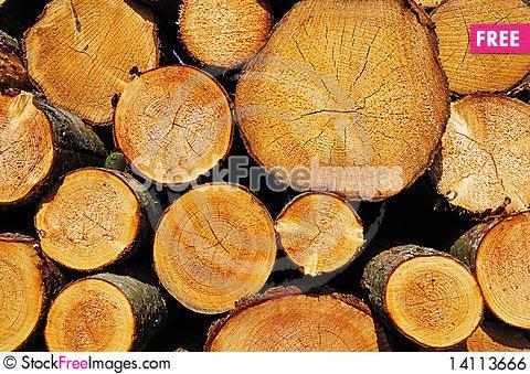 Free Pile Of Wood Royalty Free Stock Image - 14113666
