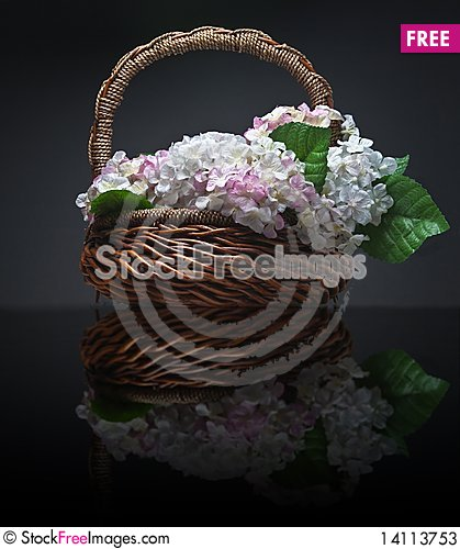Free Basket Of Artificial Flowers Stock Photos - 14113753