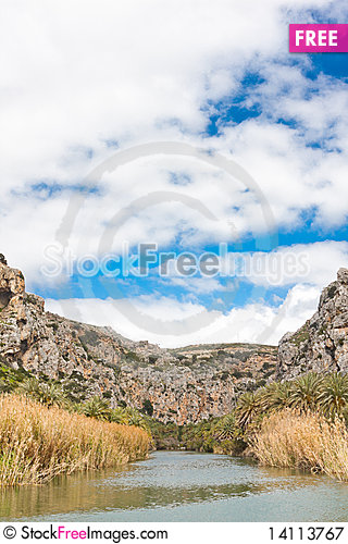 Free Preveli Lake And Palm Forest Royalty Free Stock Photography - 14113767