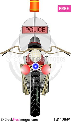 Free Police Motorcycle Royalty Free Stock Images - 14113859