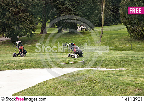 Free Golf Bags Stock Image - 14113901
