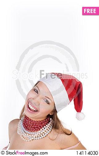 Free Beautiful Girl In Santa Claus Hat Stock Photo - 14114030