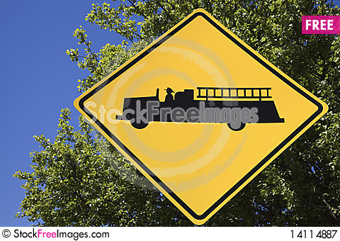 Free Fire Station Ahead Royalty Free Stock Photography - 14114887