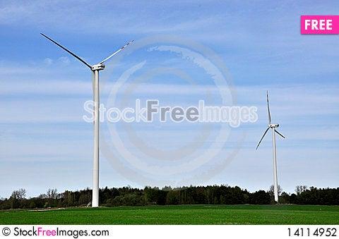 Free Wind Turbine Stock Photography - 14114952