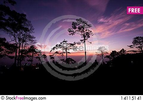 Free Sunrise At Pha Nok Aen Stock Image - 14115141