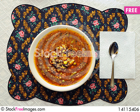 Free Bowl Of Soup Royalty Free Stock Image - 14115406