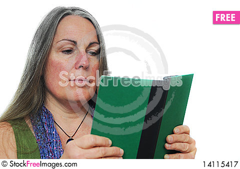 Free Woman Reading Book Royalty Free Stock Photography - 14115417