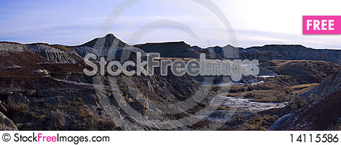 Free The Badlands At Sunset Royalty Free Stock Image - 14115586