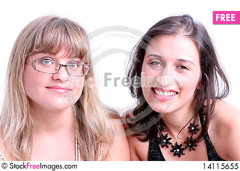 Free Happy Young Women Friends Smiling. Royalty Free Stock Photo - 14115655