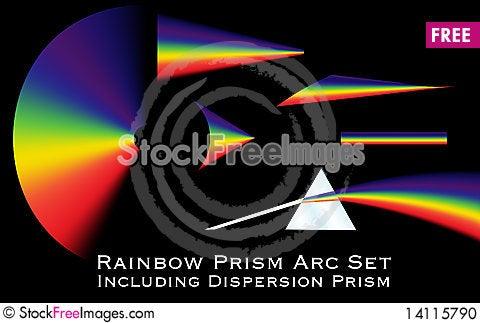 Free Rainbow Prism Arc Set Stock Photo - 14115790