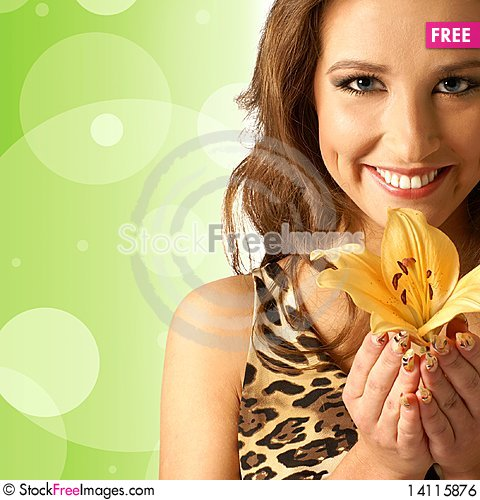 Free Portrait On A Young And Lovely Woman Royalty Free Stock Image - 14115876