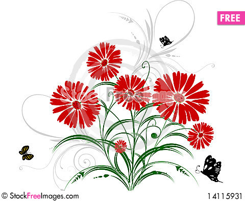 Free Abstract Floral Background Stock Image - 14115931