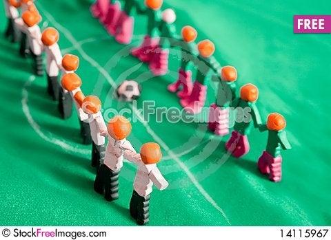 Free Football Teams Royalty Free Stock Photography - 14115967