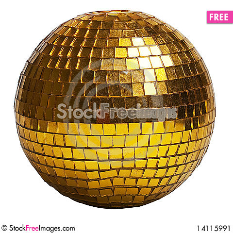 Free Gold Discoball Stock Image - 14115991