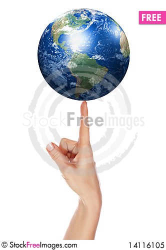 Free Palm And Earth Royalty Free Stock Photo - 14116105