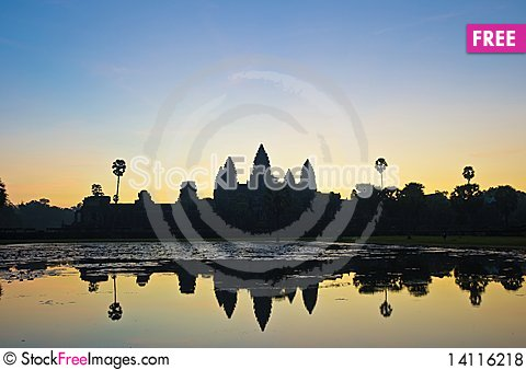Free Angkor Temples Royalty Free Stock Photos - 14116218