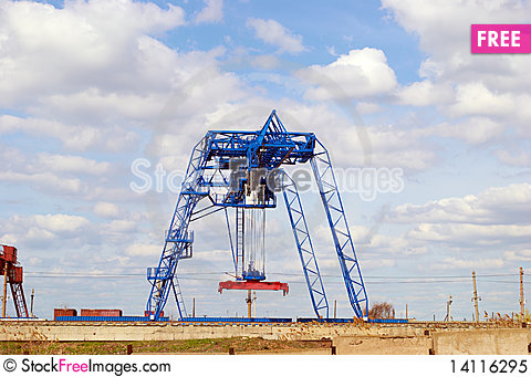 Free Container Terminal Royalty Free Stock Photo - 14116295