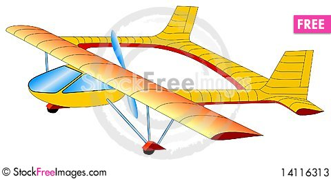 Little airplane Stock Photo