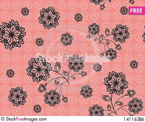 Free Black Openwork Flowers Royalty Free Stock Image - 14116386