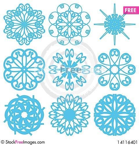Free Set With Snowflakes Stock Image - 14116401