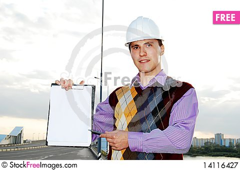 Free Industrial Theme: Architect. Royalty Free Stock Photography - 14116427
